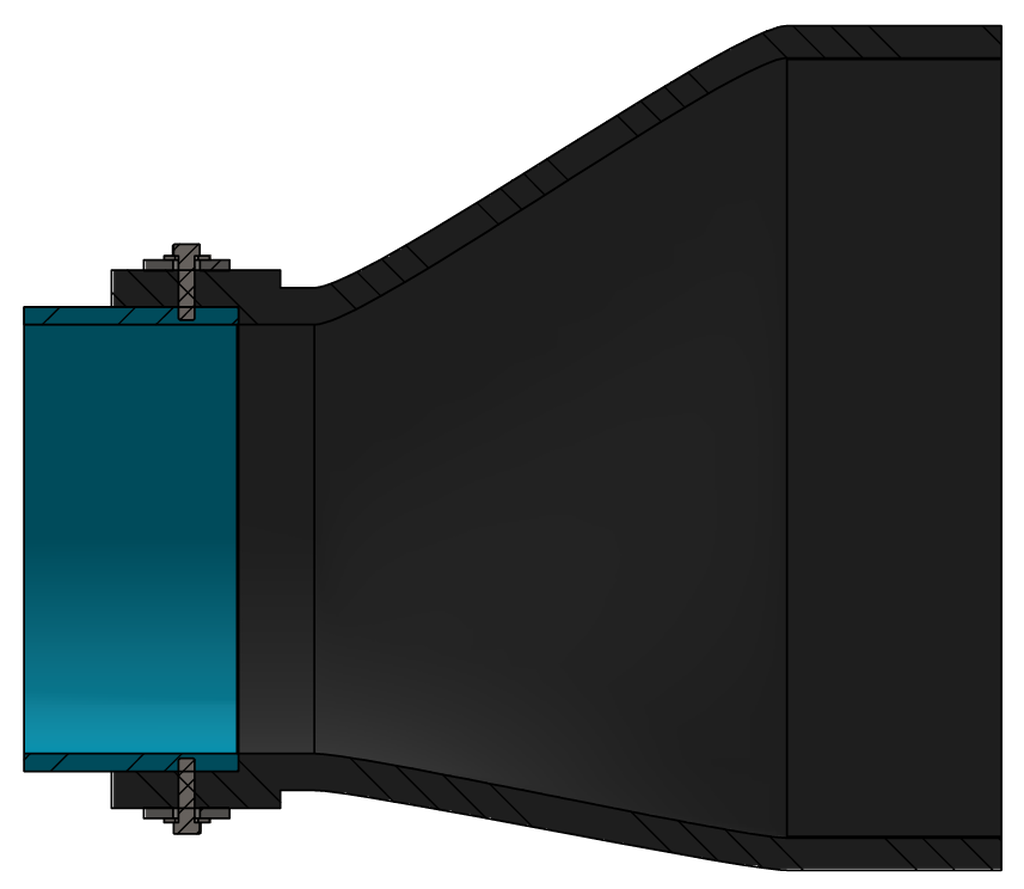 Rendering of the Proco 711 Duckbill Check Valve